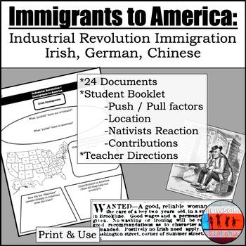Immigrants to America in the IR (1800s)- Irish, German, Chinese
