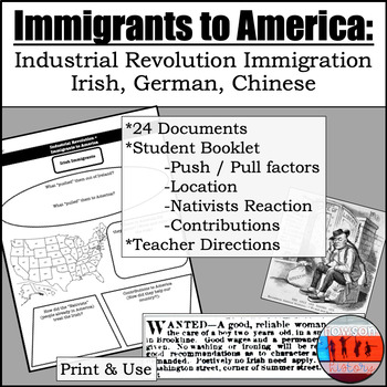 Immigrants during the Industrial Revolution (1800s)- Irish, German, Chinese