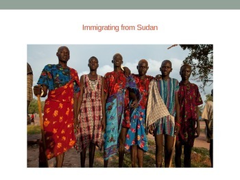 Immigrating from Sudan WebQuest