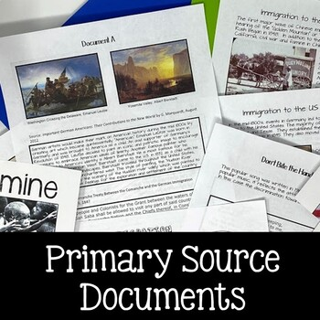 Immigration Primary Sources and Writing