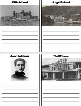 Immigration to America Activity (Ellis Island, Jane Adams, Hull House, etc.)