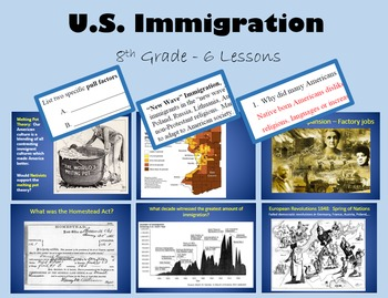 Immigration - 6 day unit - PRINTABLE with PowerPoint and all handouts