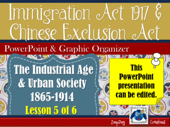 Immigration Act of 1917 and Chinese Exclusion Act