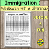 Immigration Activity: Word Search