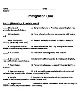 Immigration Assessment