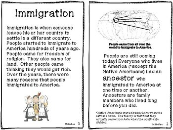 Immigration Coming to America: Immigrants from Germany, Ireland, China 2nd Grade