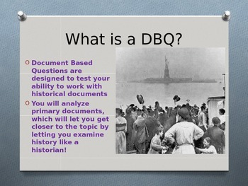 Immigration DBQ Overview Power point