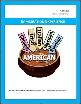 Immigration Experience Differentiated Instruction Lesson Plan