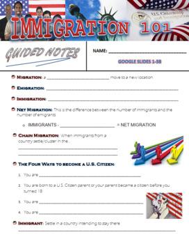 Immigration Google Slides Presentation