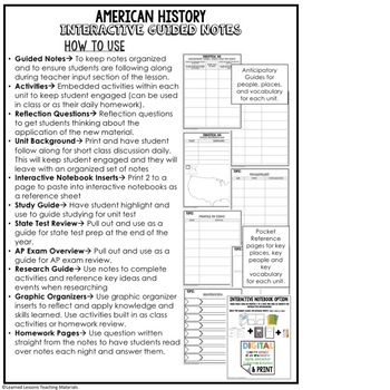 Immigration Guided Notes & PowerPoints, US History, Print, Digital, Google