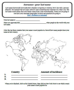 Immigration Heat Map- Surnames