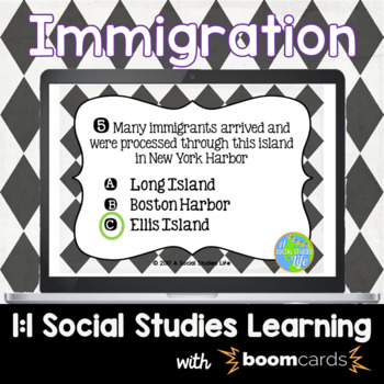 Immigration Interactive Task Cards