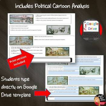 IMMIGRATION AND INTOLERANCE Lecture and Journal Activity, Cartoon Analysis