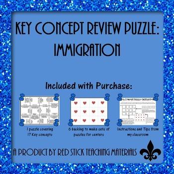 Immigration  Key Concept Puzzle