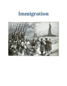 Immigration Open Response and Five Paragraph Essay Prompt