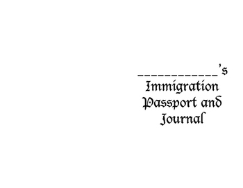Immigration Passport and Journal Writing Book Printable!