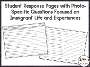 Immigration Photo Stations with Student Response Pages (late 1800s-early 1900s)