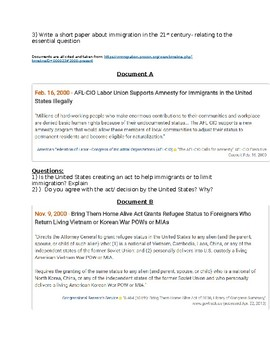 Immigration Policy during George Bush (jr) Presidency - DBQ
