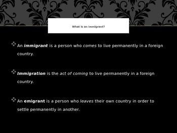 Immigration Power Point