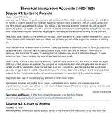 Immigration Primary Sources (Historical and Modern)