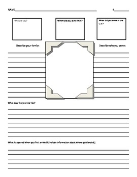 Immigration Project Graphic Organizer