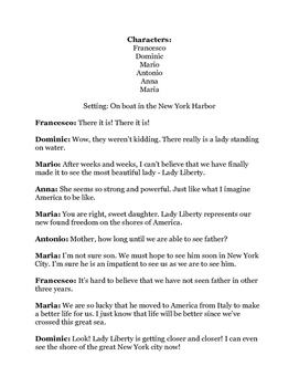 Immigration Readers Theater Printable!