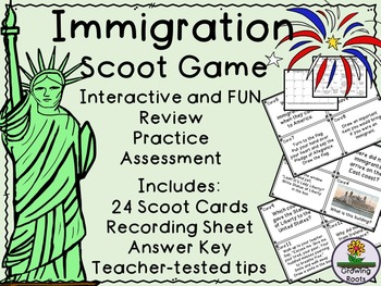 Immigration Task Cards Scoot Game