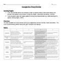 Immigration Simulation Diary Summative Graphic Organizer and Rubric