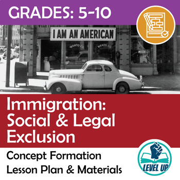 Immigration: Social & Legal Exclusion - Concept Formation Lesson