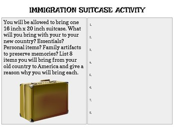 Immigration Suitcase Activity Notebook Foldable
