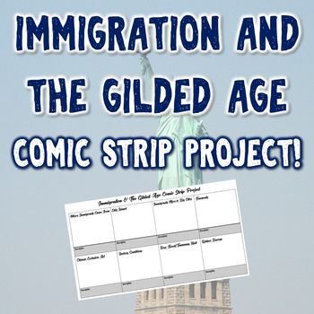 Immigration & The Gilded Age Comic Strip Project