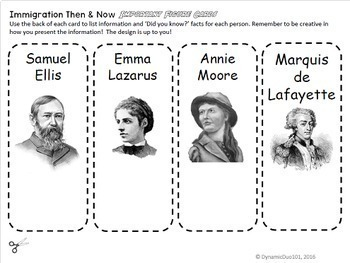 Immigration: Then and Now Interactive Notebook and Lapbook Activities