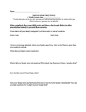 Immigration Unit Interview Worksheet for Family History Pr