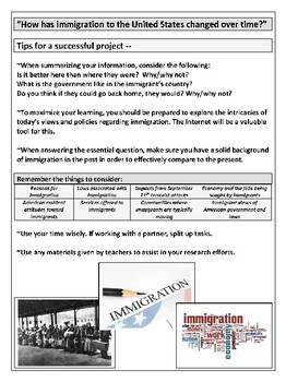 Immigration Research Project