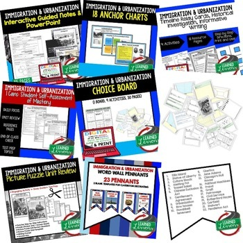 US History Immigration & Urbanization BUNDLE (American History Bundle)