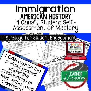 Immigration Urbanization I Cans Student Self Assessment Ma