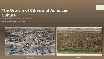 Immigration, Urbanization, Popular Culture PPT - APUSH New Framework - Period 6