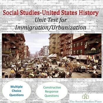 Immigration/Urbanization Unit Test