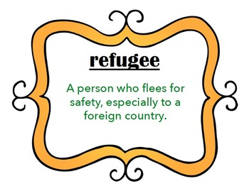 Immigration Vocabulary Cards