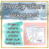 Immigration WebQuest Project (Distance Learning)