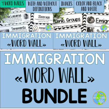 Immigration Word Wall BUNDLE