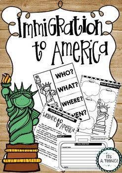 Immigration and Ellis Island, Crafts included, No Prep!