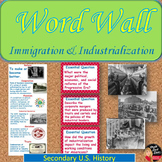 Immigration and Industrialization Vocabulary WORD WALL Pos