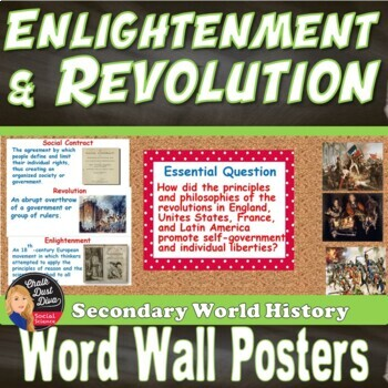 Enlightenment and Revolution WORD WALL (World History)