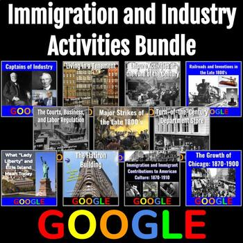 Immigration and Industry (1865-1914) Activities Bundle