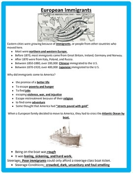 Immigration and Inventors STUDY GUIDE AND ASSESSMENT 5th SS