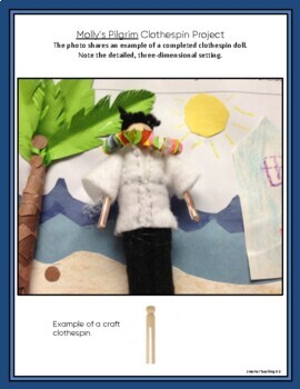 Molly's Pilgrim Clothespin Project: Immigration, Diversity, Family Heritage