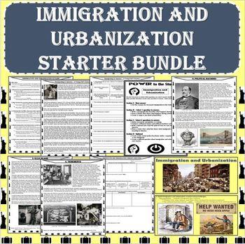 Immigration and Urbanization Starter BUNDLE