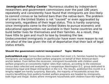 Immigration debate gallery walk