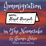 Immigration in The Namesake by Jhumpa Lahiri   Handout   A
